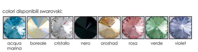 Faretto da incasso in metallo cromo lucido e strass Swarovski in vari colori