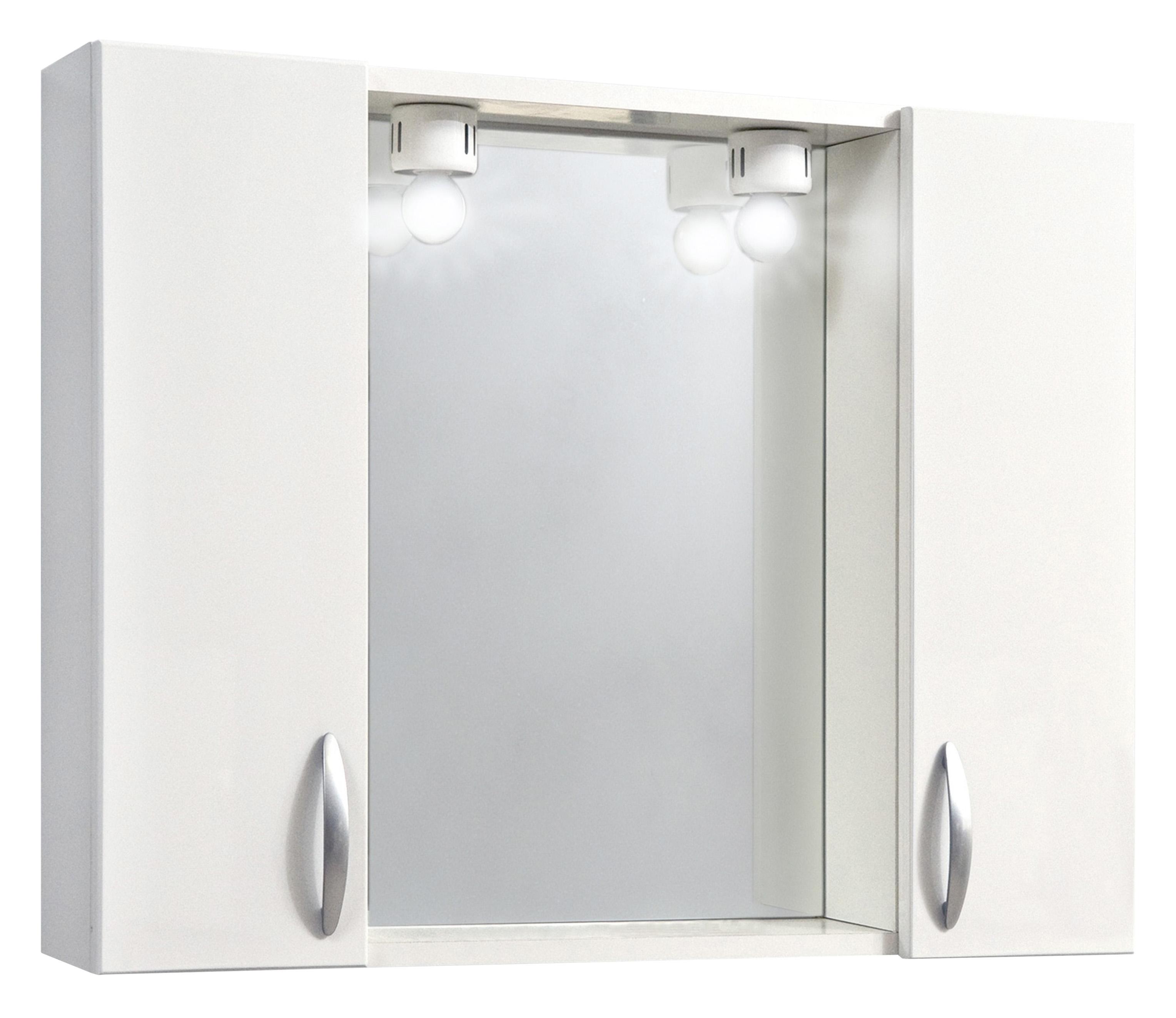 Specchio da bagno con 2 ante bianco delait design light decor - Specchio con ante per bagno ...